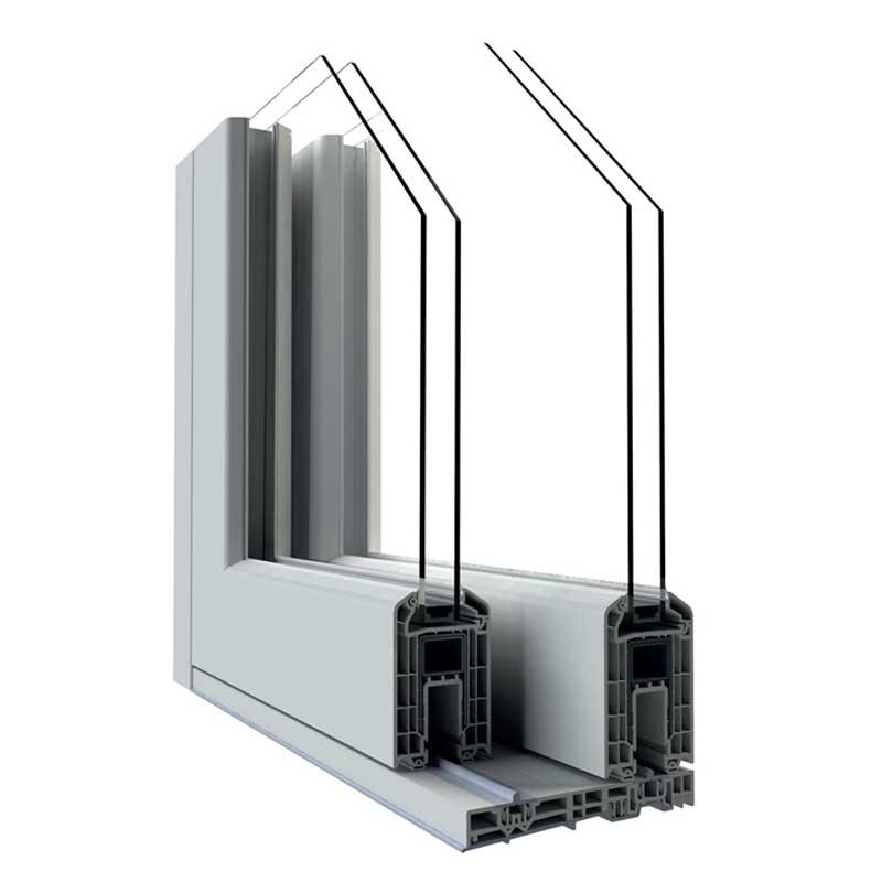 sliding pvc window section
