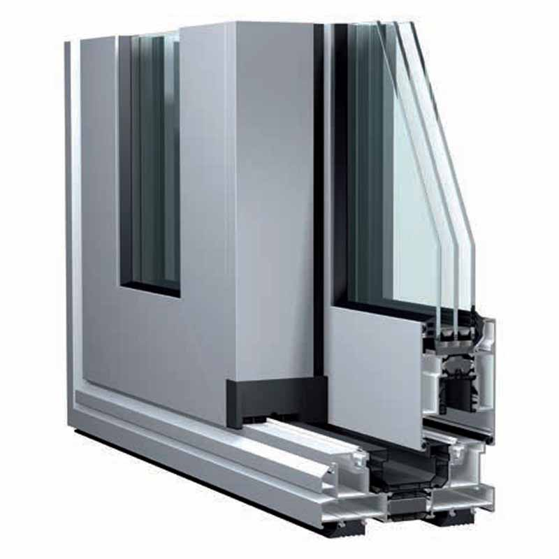 sliding top chrome aluminum window